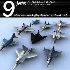 jet collection 3D Model