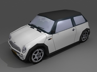 Mini Cooper 2004 Low Poly 3D Model