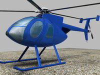Helicopter MD500E 3D Model