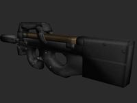 Free p90 SMG 3D Model