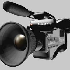 Panasonic Video Camera (Pro) 3D Model
