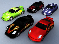 Nissan Firelady_lowpoly 3D Model