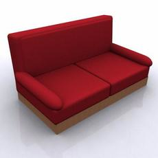 Perfect Red Sofa 3D Model