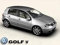 VW Golf V 3D Model