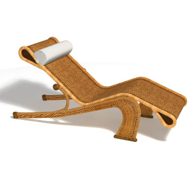 Chaise longue maui 3d model for Arild chaise longue
