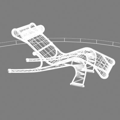 Chaise longue maui 3d model for Arild chaise longue