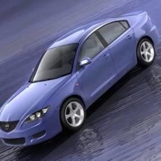 Mazda 3 Saloon, 2004 3D Model