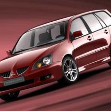 Mitsubishi Lancer Wagon, 2004 3D Model