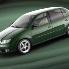 Skoda Fabia, 2003 3D Model