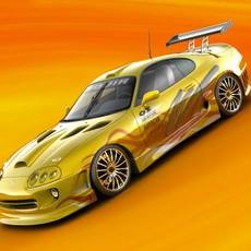 Toyota Supra Underground Tuning, 2000 3D Model