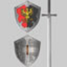 Shield and sword 3D Model