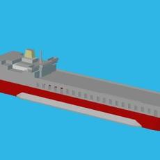 MV Baltic Ferry 3D Model
