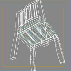 woodchair 3D Model