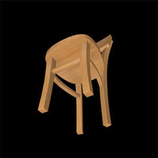 Wood2chair 3D Model