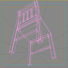 Wood3chair 3D Model