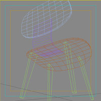 Eam Wood Chair 3D Model