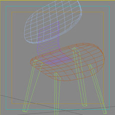 Eam Wood Chair 3D Model