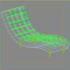 Bed Chair 3D Model