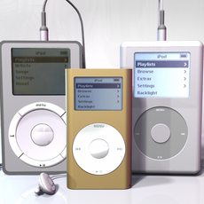 iPod MP3 player collection for Maya 3D Model