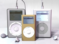 iPod MP3 player collection 3D Model