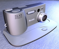 Digital Camera (NURBS versions) 3D Model