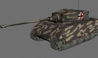 KingTiger 3D Model