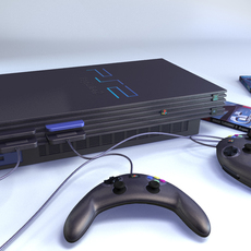 PlayStation Video Game System 3D Model
