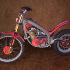 Trials Bike - Motorcycle Design 3D Model