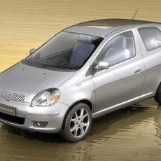 Toyota Yaris 2005 3D Model