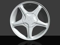 Wheel-rim Ford mustang 3D Model