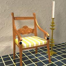 antique_biedermeier_1820 3D Model