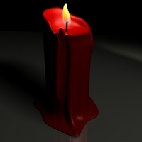 Candle 3D Model