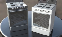 Gas Electric Oven 3D Model