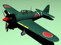A6m2 Zero 3D Model