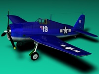 F6F Hellcat 3D Model