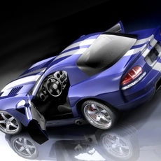 Dodge Viper SRT10 Coupe 3D Model