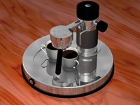 Italian espresso machine 3D Model