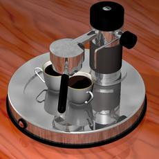Italian espresso machine 3D Model