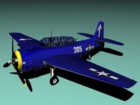 TB-3 Avenger 3D Model