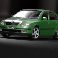 Skoda Octavia 2005 5door 3D Model