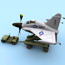Convair XFY-1 Pogo 3D Model