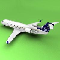 Bombardier Challenger 800 3D Model