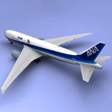 Boeing 777 Ana Airliner 3D Model