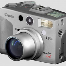Canon G2 digital camera 3D Model