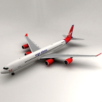 a340-600 Virgin Atlantic 3D Model
