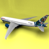 Boeing 777 British Airways Nalanji Dreaming 3D Model
