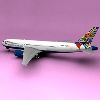 Boeing 777 British Airways Sweden 3D Model
