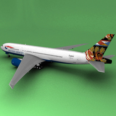 Boeing 777 British Airways Grand Union 3D Model
