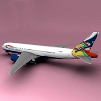 Boeing 777 British Airways Dove Colum  3D Model