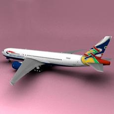 Boeing 777 British Airways Dove Colum  3D Model